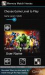 Memory Match Heroes screenshot 1/3