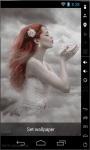 Girl Of Clouds Live Wallpaper screenshot 2/2