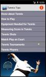 Tennis Playing Tips screenshot 1/2