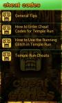 Temple Run Cheats Codes Free screenshot 3/6