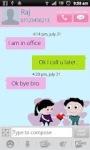 Cartoon Love  GoSMS Theme screenshot 2/5