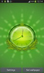 Green Nature HD Clock screenshot 2/6