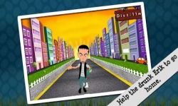 Crazy Drunk Man Running Game screenshot 2/5