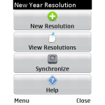 New Year Resolution screenshot 1/3