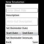New Year Resolution screenshot 2/3