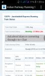 Indian Railway Running Status Live screenshot 3/4