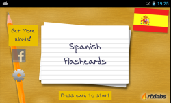 A Spanish Flashcards App screenshot 1/4