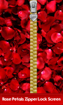Rose Petals Zipper Lock Screen screenshot 1/6