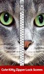 Cute Kitty Zipper Lock Screen screenshot 1/6