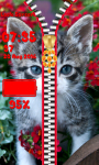 Cute Kitty Zipper Lock Screen screenshot 5/6