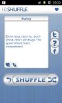 fb Shuffle - Facebook Twitter Status Updates screenshot 1/3