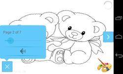 Cute Bear Coloring Book Pages screenshot 2/3