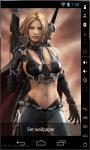 Warrior Girl Live Wallpaper screenshot 1/2