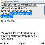 Windows Live Hotmail PUSH emails screenshot 5/6