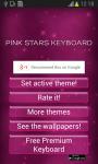 Pink Stars Keyboard screenshot 2/6
