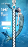 Mermaid Zipper Lock Screen Free screenshot 6/6