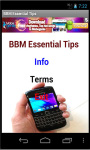 BBM Essential Tips screenshot 2/2