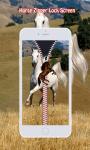 Horse Zipper Lock Screen screenshot 4/6