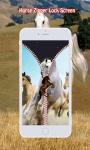 Horse Zipper Lock Screen screenshot 5/6