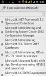 Microsoft exam collection screenshot 1/4