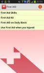 First AID_Info screenshot 1/3