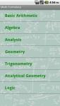 Math Formulary screenshot 1/1