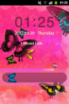 GO Locker Theme Butterfly Pink screenshot 1/4