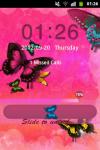 GO Locker Theme Butterfly Pink screenshot 2/4