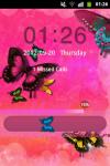 GO Locker Theme Butterfly Pink screenshot 3/4