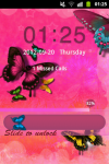 GO Locker Theme Butterfly Pink screenshot 4/4