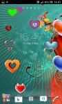Love and hearts live wallpaper screenshot 5/6