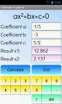 Quadratic Equations Solver Free screenshot 1/4