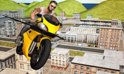 Flying Moto Racer 3d screenshot 2/5