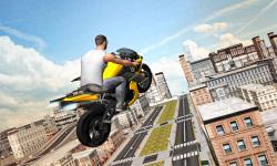 Flying Moto Racer 3d screenshot 3/5
