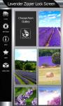 Lavender Zipper Lock Screen Best screenshot 4/6