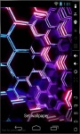Purple Honeycomb Live Wallpaper screenshot 1/2