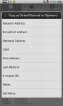 IP Network Calculator for Android screenshot 2/4