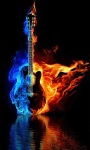 Guitar Fire Live Wallpape screenshot 2/3