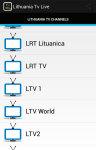 Lithuania Tv Live screenshot 2/5