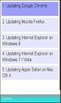 Browsers Upgrade Information screenshot 1/1