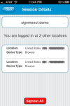 SignMeOut for iPhone screenshot 3/3