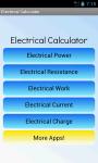 Electrical Calculator Free screenshot 1/4