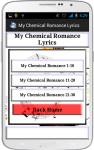 My Chemical Romance Song Lyrics screenshot 2/4