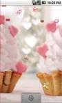 Cute Heart Cake Live Wallpaper screenshot 1/5