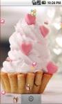 Cute Heart Cake Live Wallpaper screenshot 2/5