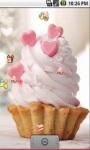 Cute Heart Cake Live Wallpaper screenshot 3/5