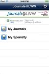 Journals@LWW screenshot 1/1
