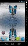 Blue Butterfly Girl Live Wallpaper screenshot 2/2