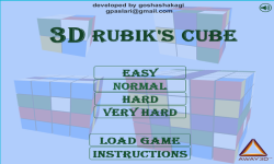 3D Rubiks Cube Android screenshot 1/3