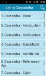 Learn Cassandra screenshot 1/3